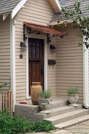 front door overhangnice simple easy fix for that no cover no porch overhang  the