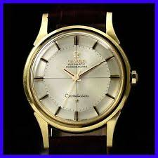 omega constellation pie pan vintage omega constellation 14381 pie pan chronometer 18k solid gold men watch