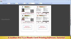 Aadhar Printing 2 Card - E-aadhar Software 0 Card pvc Pro Youtube And V Plastic Post