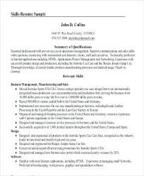 Resume Summary Cool Resume Professional Summary Datainfo