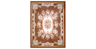 french market collection chocolate garden aubusson rug