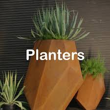 metal garden planters and pots by lump
