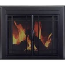 Pleasant Hearth Fenwick Large Glass Fireplace Doors  To Be Home Depot Fireplace Doors