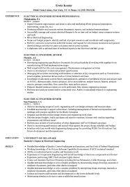 Electrical Engineer Senior Resume Samples Velvet Jobs