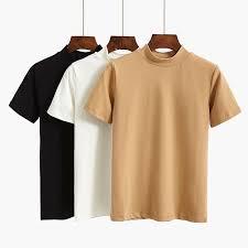 GIGOGOU 95% Cotton <b>Women</b> T Shirt Summer Basic Tshirt <b>S 2XL</b> ...