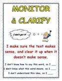 Monitor And Clarify Anchor Chart Monitor Clarify Teaching Resources Teachers Pay Teachers