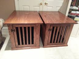 amazing a couple of dog crate end tables stan glover lumberjocks dog kennel end table designs