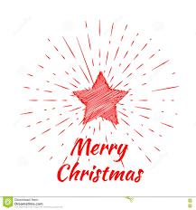Beschriftung Der Frohen Weihnachten Und Weihnachtsstern Mit