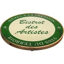 Plateau De Table De Bistrot Emaillee Bistrot Des Artistes Vert Vins