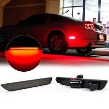 2014 Mustang Side Marker Lights Amazon Com Keenici Smoke Lens Red Led Rear Side Marker