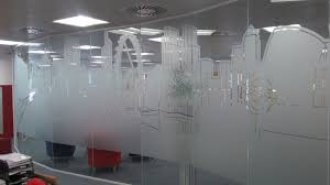 office glass frosting. Frosted / Etched Office Vinyl Manifestation Glass Frosting I