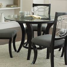 glass top dining room tables for sale. steve silver company cayman round dining table in black with glass top room tables for sale