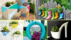 50 + Creative Garden Flower Pot Ideas 2017 - Creative DIY Flower Pot
