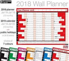 home office planner. Image Is Loading 2018-Year-Yearly-Planner-Coloured-Wall-Chart-planner- Home Office Planner