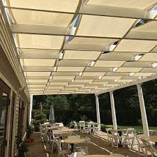 fabric patio shades. Beautiful Shades Custom Finished Shade Cloth Weaved On A Pergola Providing 98 UV Block Mix  Fabric Colors For Different Look Your Patio In Fabric Patio Shades