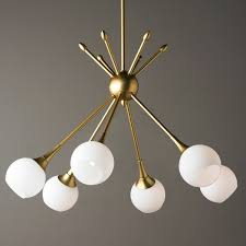 mid century modern lighting. Mid-Century Modern Mobile Chandelier - 6 Light Golden Mid Century Lighting Shades Of