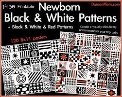 Baby Vision Chart Black White Red Patterns For Your Newborn Free