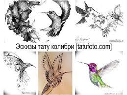 эскизы тату колибри оригинальные рисунки фото примеры значение