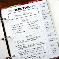 Recipe Binder Templates Perfect Cookbook Templates Recipe Book Cards For Cv Download