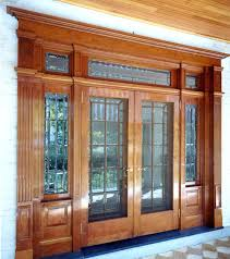fascinating wooden entry doors cherry bevel custom entrance wood front with sidelights and transom furniture