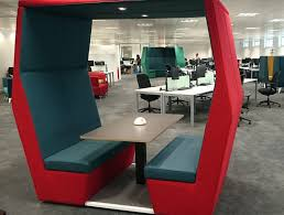 office meeting pods.  Office Bill Meeting Pods Withoutwall In Office Interiors With Overhead Led  Lights To Meeting Pods