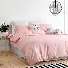 ufo home 300 thread count 100 cotton sateen light pink solid color pretty girly type 4pc duvet cover set full queen size queen size pink com