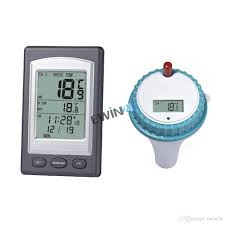 2018 wireless indoor and outdoor swimming pool spa hot tub scoop thermometer water temperature guage with alarm clock function pool from ewin24
