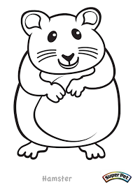 Hamster Coloring Page Free Printable Pages Batman Magnificent 5