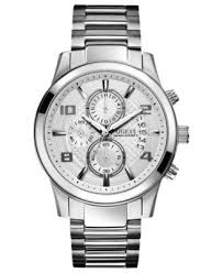 guess watch men s chronograph stainless steel bracelet 44mm guess watch men s chronograph stainless steel bracelet 44mm u0075g3 watches jewelry watches macy s