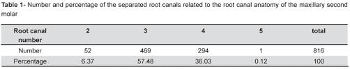 Maxillary Second Molar A Study Of The Distobuccal Root Canal Orifice Of The Maxillary