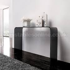 smoked glass console table