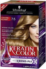 Aequo Color Chart Schwarzkopf Keratin Hair Color Caramel Blonde 7 5 Hair
