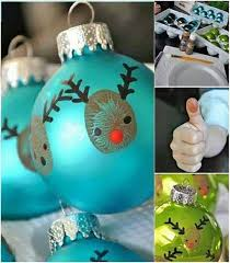 Creative Ideas - DIY Easy Thumbprint Reindeer Christmas Ornaments