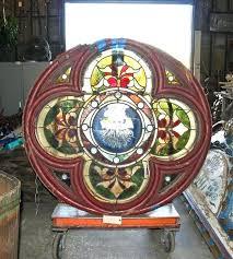 stained glass round antique window salvage sham minecraft recipe