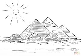 Giza Pyramids coloring page | Free Printable Coloring Pages
