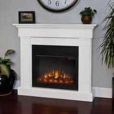 review real flame crawford electric slim line fireplace in white finish you
