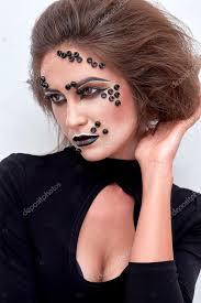 fashion makeup black beads on