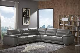 j m cagliari contemporary premium grey italian leather sectional sofa modern com