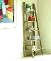 ladder shelf wooden bathroom ladder shelf do it yourself