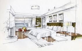 Attractive Bedroom Interior Design Sketches With Top Interior Designs Sketches