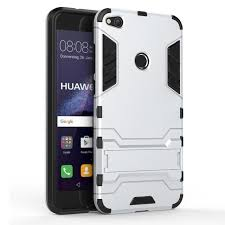 huawei p8 titanium grey. 3d armor stand case for huawei p8 lite 2017 shockproof cover p9 silicone titanium grey