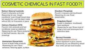 cosmetic chemicals in fast food the science cookie jar advertisements