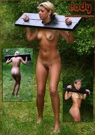 Women in bondage outdoors