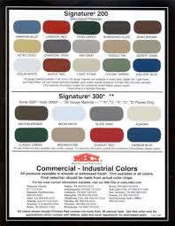 Mbci Color Chart Mbcicommercial Industrialseries