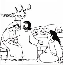 Mary And Martha Coloring Pages New And Page - glum.me
