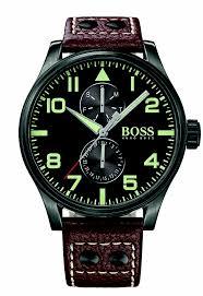 watch hugo boss drops boss watches aeroliner leather strap watch