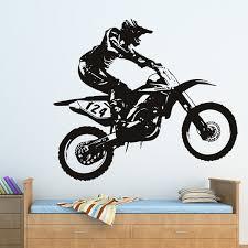 motocross bedroom decor honda dirt bike wall sticker motocross motorbike decal boys on vente en gros on dirt bike wall art with honda dirt bike wall sticker motocross motorbike decal boys on vente