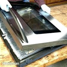 how to clean oven window clean wolf oven window door drip down the inside glass of