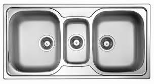 3 basin kitchen sinks triple bowl kitchen sink stainless steel sky 550 elleci