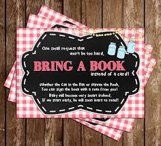 Baby-Q - Baby Girl - Baby Shower - Bring A Book Insert